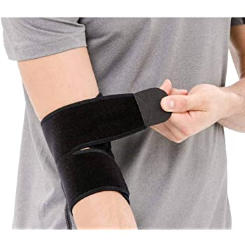 serveuttam Leosportz Elbow, Reversible Neoprene Support Brace for Joint, Arthritis Pain Relief, Tendonitis, Sports Injury Recovery, ES10, Black, 1 Count