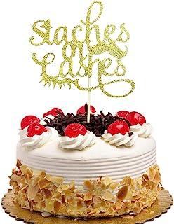 ستاش أو لاشز لتزيين الكعك - يكشف عن النوع - للأولاد أو البنات - زينة حفلات الكب كيك باللون الذهبي اللامع