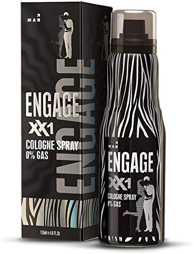 Engage XX1 Cologne Spray for Men, Citrus and Spicy, Skin Friendly, 135ml