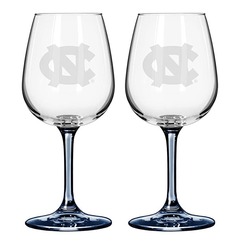 雑品従順な解明するNCAA ノースカロライナ ターヒールズ ボイルター ワイングラス (2個パック)
