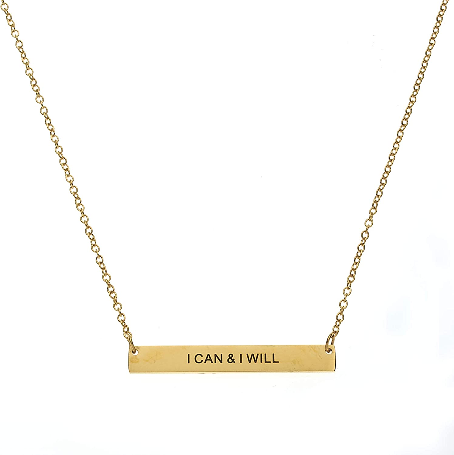 Inspirational Necklaces for Women 18 with Extender Inspirational Jewelry /& Gifts Mantra Inspirational Daily Reminder Necklaces I Can /& I Will
