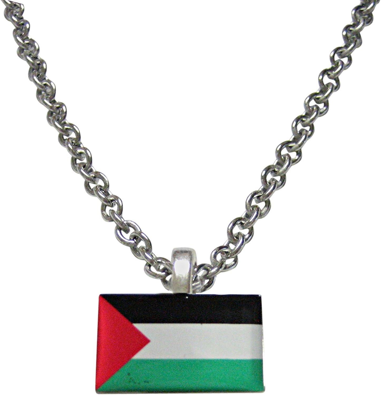Kiola Designs Palestine Flag Pendant Necklace