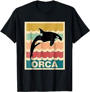 TIANLAGNHB Vintage Orca T-Shirt Killer Whale Fans