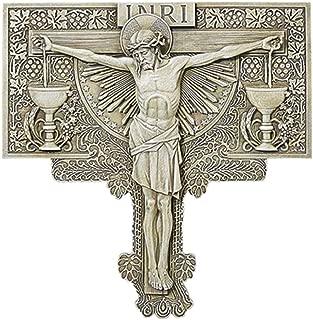Religious Jesus Christ Crucifixion Outdoor Garden Wall Plaque Decor, 10 1/2 Inch