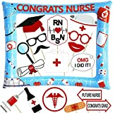 Nurse Graduation Photo Booth Props and Inflatable Selfie Frame - NO DIY Required - Nursing Graduation Party Supplies 2020-18pcs RN Doctor Graduation Party Decoration - Blue and Red