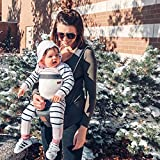 Bebamour Baby Carrier for 0-36Months, Breathable Baby Carrier Backpack for Newborn to Toddler, Approved by Safety Standard, Ergonomic Baby Hip Seat 6 in 1 Front Carrier (Dark Grey)
