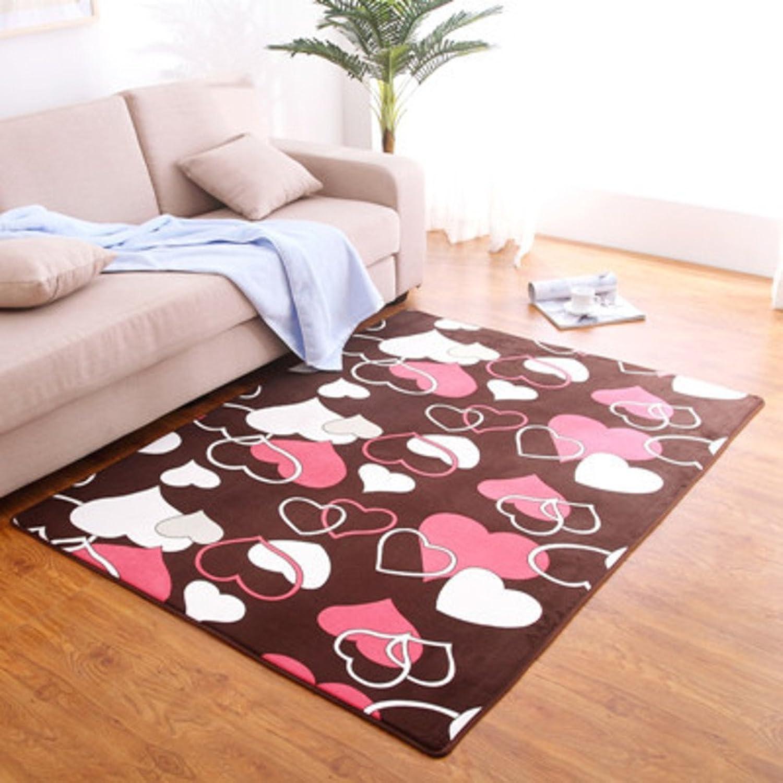 Coral velvet thick non-slip mat Living room Bedroom Bedside non-slip door mat Foot pad-A 50x80cm(20x31inch)