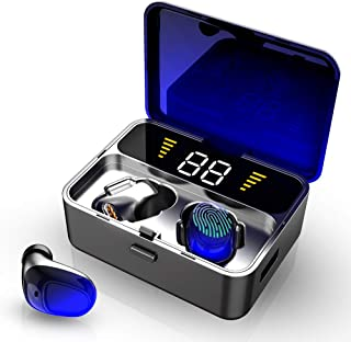 Wireless Earbuds, IPX7 Waterproof Bluetooth 5.0 + EDR Headphones w/Mic HD Stereo, 2000mAh Charging Case LED Battery Display 100H Playtime in-Ear, Touch-Control, True Wireless Earbuds for iOS Android