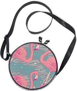 Emoya Damen Handtasche mit rosa Flamingo-Vögeln, aus Segeltuch