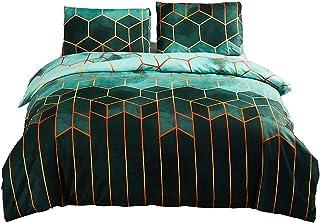 Shamdon Home Collection Parure de lit géométrique en microfibre douce avec taie d'oreiller