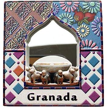 3D Alhambra Granada España Refrigerador Imán de Nevera Recuerdos Turísticos Hecho A Mano de Resina Artesanía Pegatinas Magnéticas Inicio Cocina Decoración Regalo de Viaje: Amazon.es: Hogar