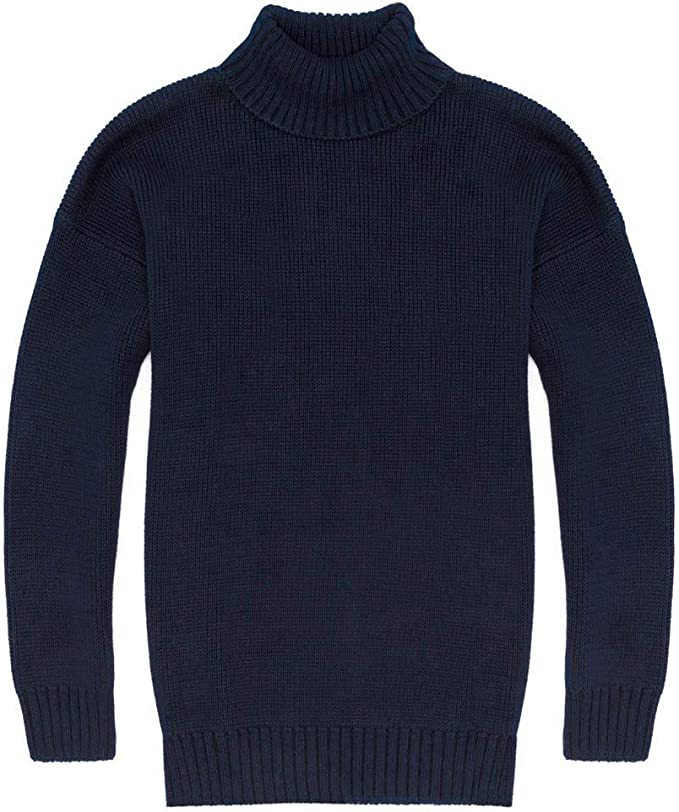 1920s Men's Fashion UK | Peaky Blinders Clothing Paul James Knitwear Mens 100% Cotton Submariner Roll Neck Jumper £80.00 AT vintagedancer.com