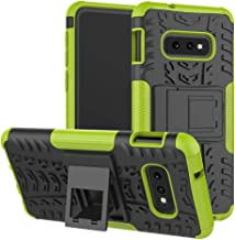 Galaxy S10e case,LiuShan Shockproof Heavy Duty Combo Hybrid Rugged Dual Layer Grip Cover with Kickstand for Samsung Galaxy S10e /S10 Lite (Not fit Samsung Galaxy S10 /S10 Plus) Smartphone,Green