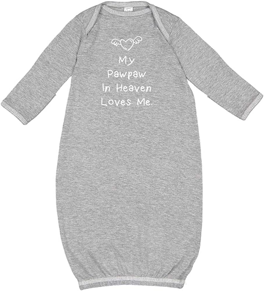 My Pawpaw in Heaven Loves Me Gown Cotton Baby Sleeper - Max 43% 2021 new OFF