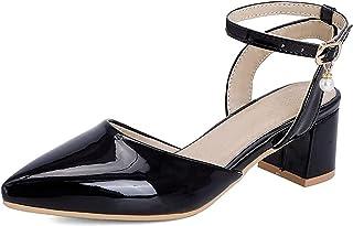 CAETNY صنادل نسائية فستان صيفي أحذية براءات الاختراع والجلود مضخات