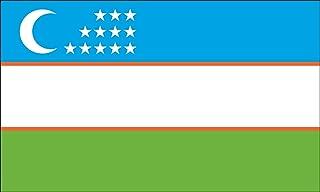 America's Flag Company FF2X3NUZB1 2-Foot by 3-Foot Nylon Uzbekistan Flag