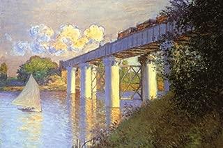 ArtParisienne The Railway Bridge at Argenteuil Claude Monet 24x36-inch Paper Giclée Print