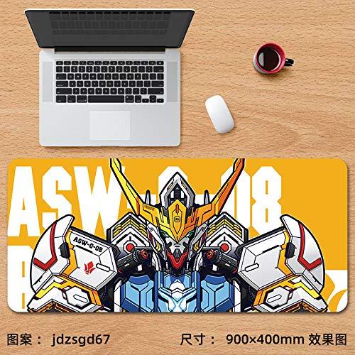 Alfombrilla de ratón para Juegos,Alfombrilla de ratón Super Anime Gundam Gaming Gaming Keyboard Pad Mobile Suit Table Pad-jdzsgd67_900x400 mm_3 mm
