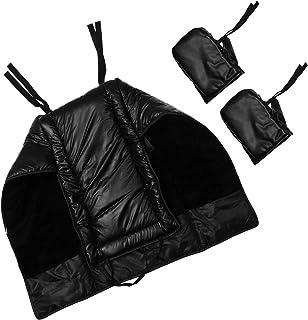 Garneck Capa de perna de motocicleta, cobertura de inverno à prova de vento, cobertura de perna para equitação em clima frio