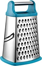 Spring Chef Professional Box Grater, Stainless Steel with 4 Sides, Best for Parmesan Cheese, Vegetables, Ginger, XL Size, ...