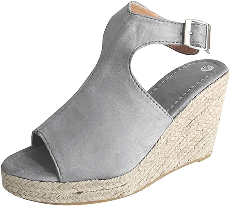 Espadrille Wedge Sandals for Women Platform Ladies Sandals Summer Shoes Slippers