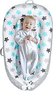 Yoocaa - Tumbona de bebé para dormir en el camino (0-12 meses), nido para dormir para recién nacido de algodón respirable para tomar siestas y para viajar