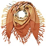 PIECES PCPAULA SQUARE SCARF, Bufanda Mujer, Marrón (Copper Brown), Talla única