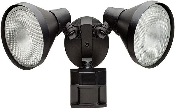 Defiant 180 Degree Outdoor Black Motion Sensing Security Light