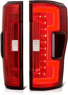 VIPMOTOZ Premium OLED Tube Red Lens LED Tail Light Lamp Assembly For 2017-2019 Ford Superduty F-250 F-350 Pickup Truck, Driver & Passenger Side