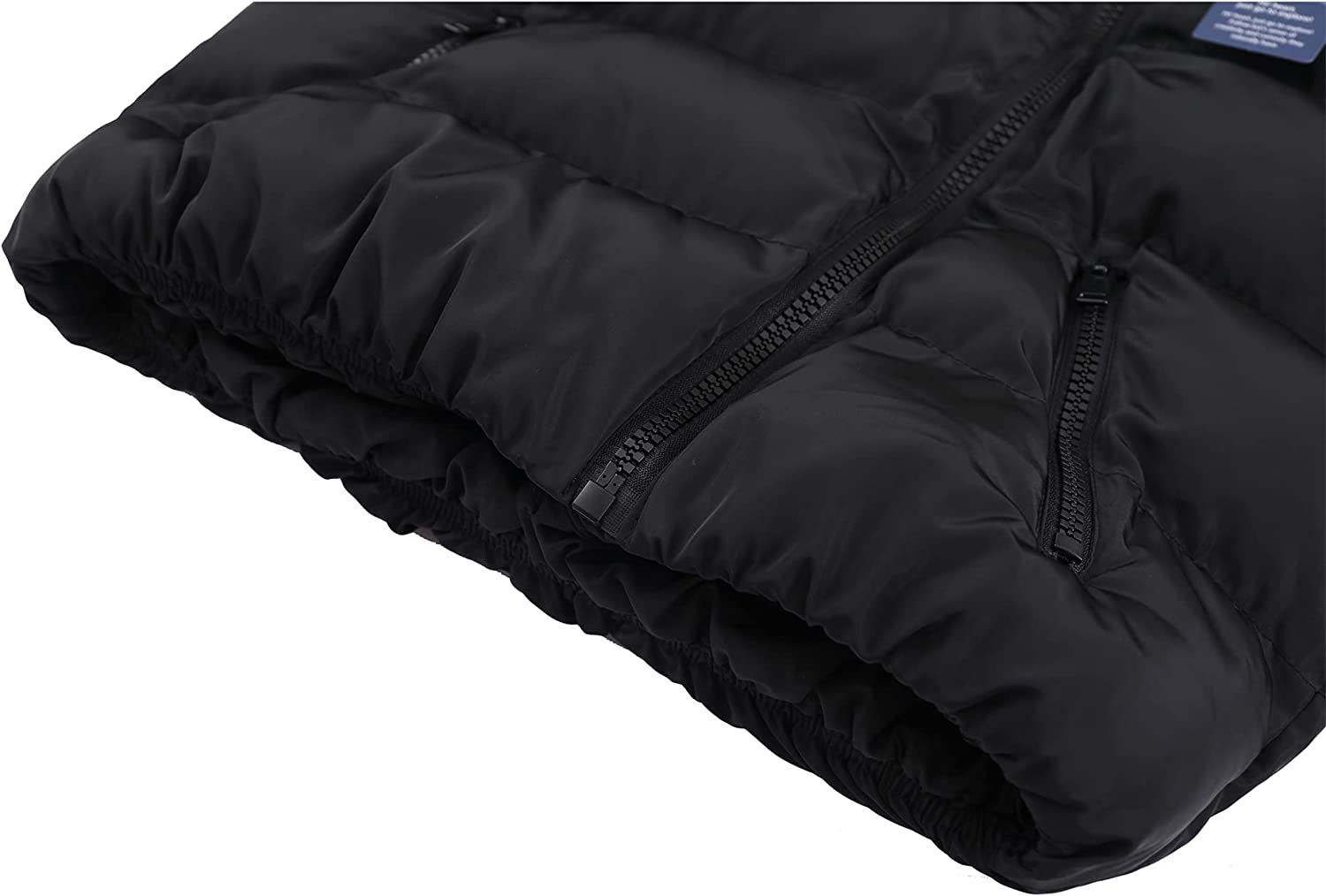 Hiheart Women's Stand Collar Puffer Jacket Oblique Zip Up Quilted Coat