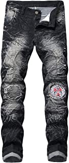 2019 Newest Men's Fashion New Printed Individual Jeans, Making Old Printed Trousers Pant