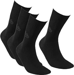 Cotton | 4 pares | Calcetines médicos diabéticos para hombre y mujer, delgados sin costuras, antibacterianos, ancho sin compresión, para pies hinchados