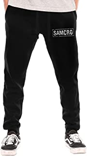 Sons of Anarchy Samcro Drawstring Waist,100% Cotton,Elastic Waist Cuffed,Jogger Sweatpants
