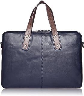 "Men's Accessories Black/Blue,Men's Portable Business Briefcase 15"" Laptop Handbag Shoulder Messenger Crossbody Satchel Casual Bag Organizer Outdoor Recreation (Color : Blue)"
