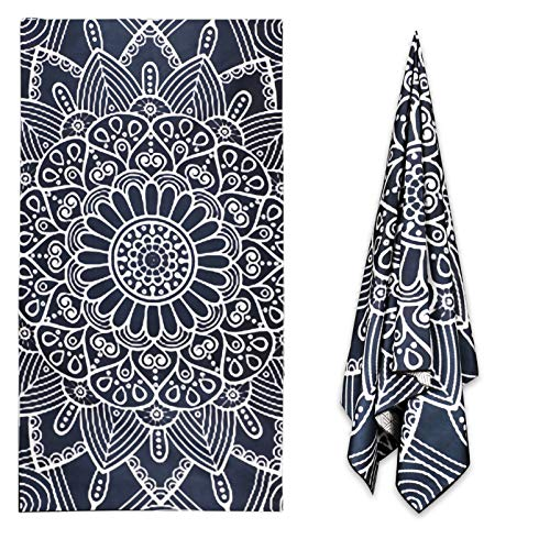 Sand Proof Microfiber Beach Towels – 60  30  Quick Fast Dry Beach Towel Alpaca Pattern Oversized Compact Blanket for Outdoor Travel Swim Pool Camping Sand Personalized Free Lightweight
