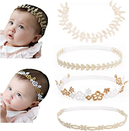 DANMY Baby Girl Rhinestone Crown Headbands Toddler Princess Headband Hair Accessories