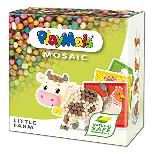PlayMais 160255 - PlayMais Mosaic Little Farm, Bastelset