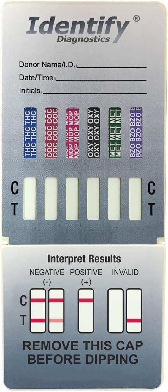 10 Pack Identify Diagnostics 6 Panel Testing Award Dip Drug Lowest price challenge - Ins Test