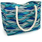 OdyseaCo - Kauai Beach Bag - Waterproof Canvas Beach Tote Bag w/Zipper