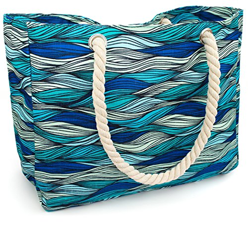 Kauai Waterproof Canvas Beach Tote