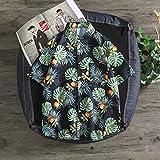 RHH Shop Camisa hawaiana con diseño de flores para hombre, estilo retro y delgado, estilo japonés, color negro, talla XL)