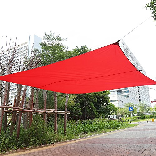 Toldo portátil de Playa, Tienda de Sol para Exterior, de poliéster y Nailon, Impermeable, toldo de jardín, toldo para Camping y Picnic, 4 x 3 m, Rojo