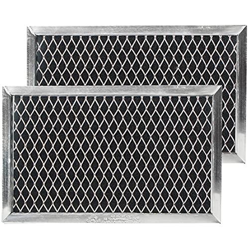 GE JX81J, WB02X11124, WB06X10823 Microwave Recirculating Charcoal Filter (2-Pack)