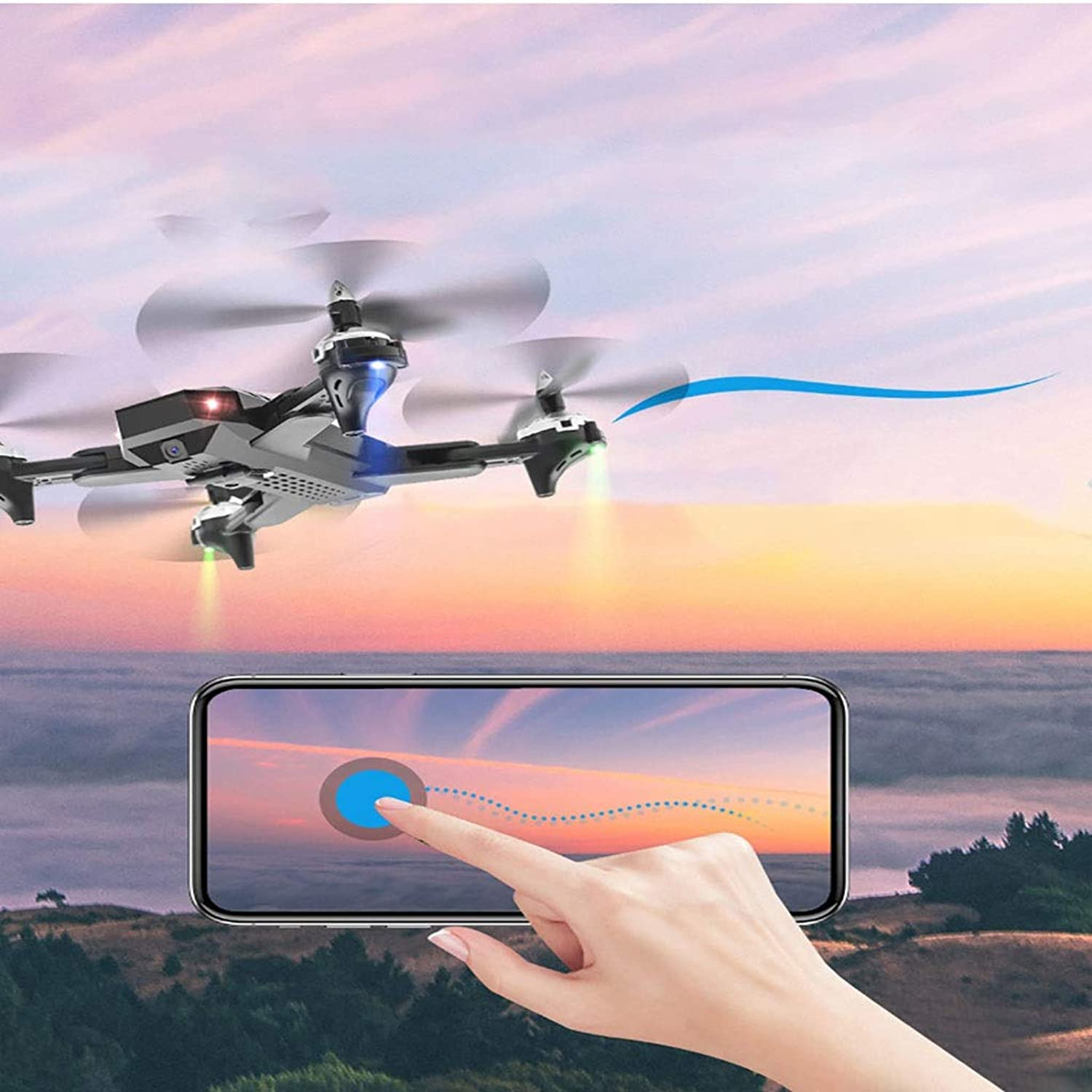 NuoEn Mini UAV Drone HD Aerial Photography Long Time Quadcopter Aircraft For Kids and Beginner Drone Toy White Or Black ( Design   White3MP )