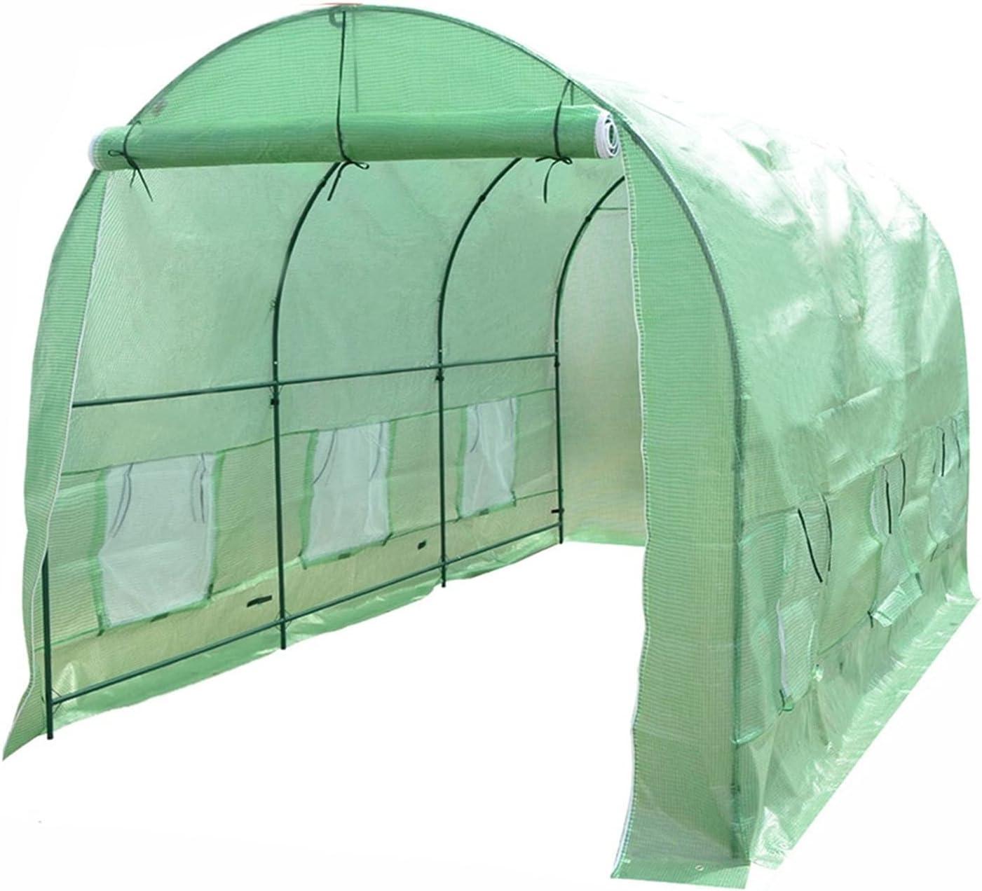 Casa Verde 365x215x21 5 CM Paseo más Grande en Plantas al Aire Libre en jardinería Durable Invernadero de Hierro (Size : 12x7x7FT)