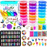Scientoy DIY Slime Kits, 113 Pcs Slime Making Spplies for Kids ,DIY Box Include 24 Crystal Slime with...