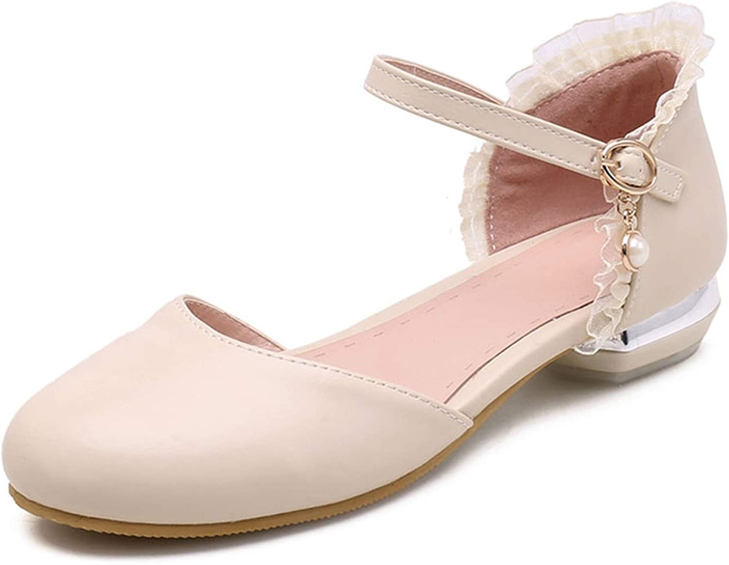 Flat Sandals Women Summer shoes Sweet Lace Prom shoes Woman sandalie Round Toe Vintage shoes Summer Girls Footwear Pink