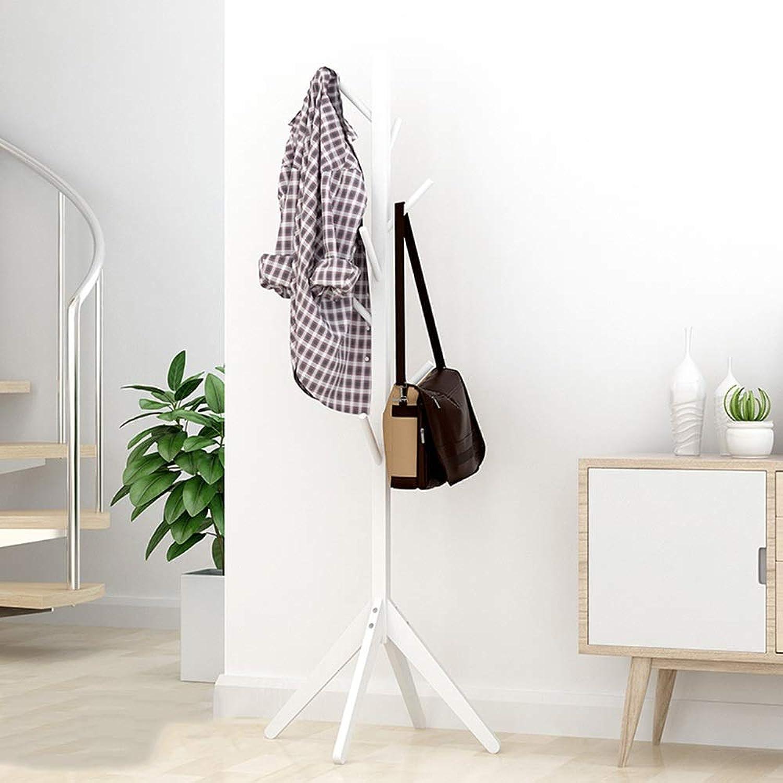 DYR Solid Wood Hangers Multi-Function Coat Racks Coat Racks Coat Racks House 3 Styles (color  White)