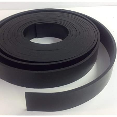"""NEOPRENE RUBBER ROLL 40 DUROMETER 1//4 THK X 2/"""" WIDE x10 ft LONG  FREE SHIPPING"""