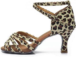 62f84f3c HROYL Zapatos de Baile/Zapatos Latinos de satén Mujeres ES7-F13